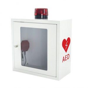 Szafka na defibrylator AED z alarmem